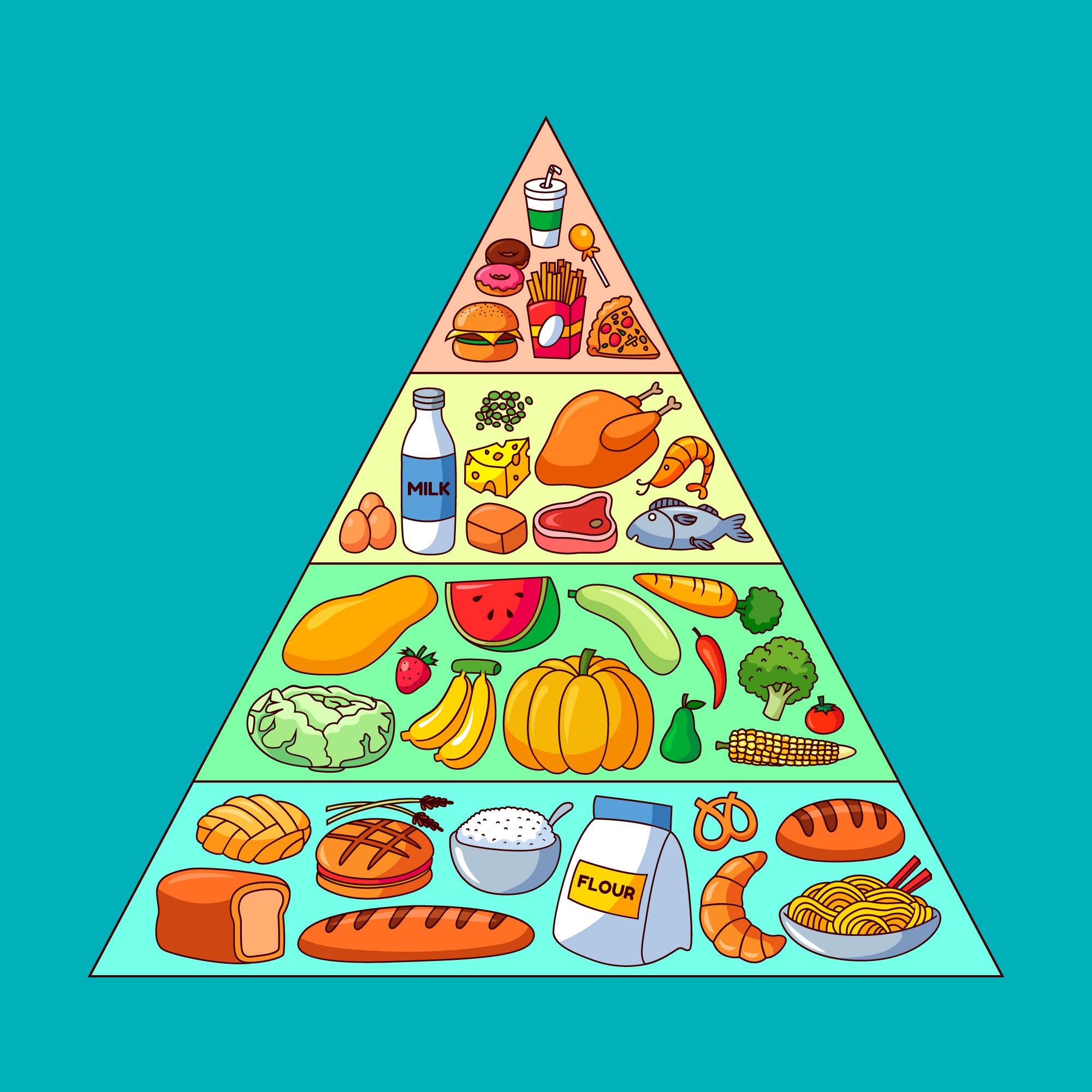 Piramida żywienia – jak zdrowo się odżywiać?